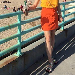 Mini a line skirt